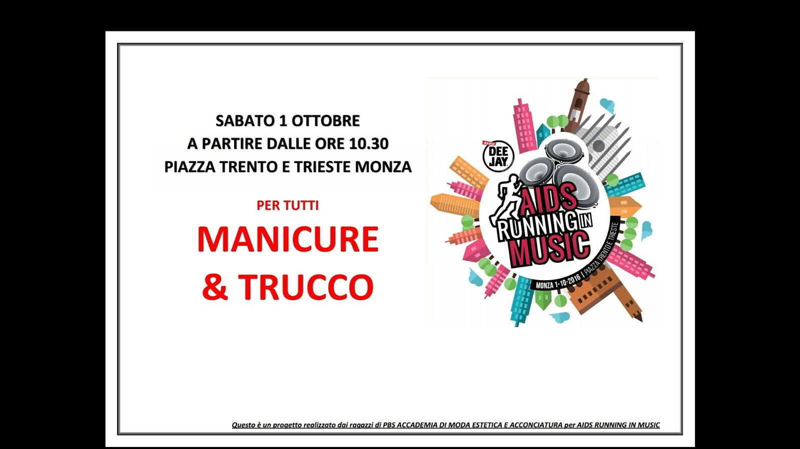 Accademia PBS partecipa all'AIDS RUNNING IN MUSIC 1